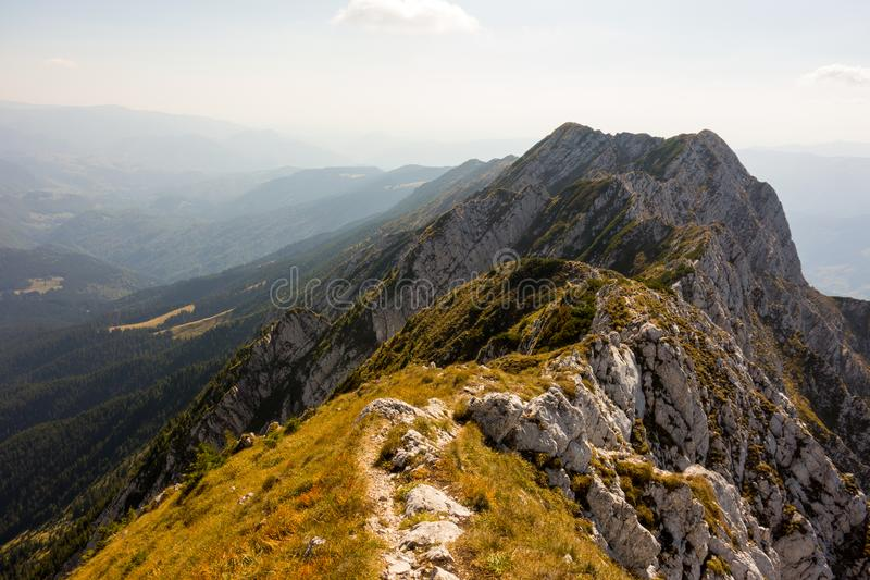 Spectacular mountain ridge in a beautiful summer day royalty free stock photography