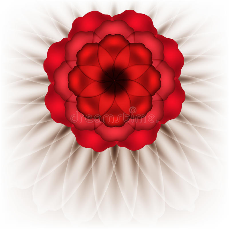 Download Spectacular red flower stock vector. Illustration of drawing - 34645851
