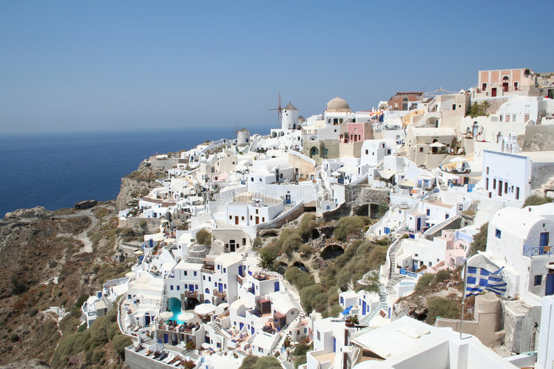 Download Spectacular Santorini. stock image. Image of hotels, unique - 7667553