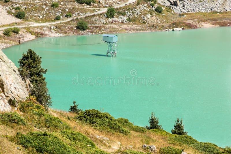 Spectacular scenic Big Almaty Lake ,Tien Shan Mountains in Almaty, Kazakhstan royalty free stock photo
