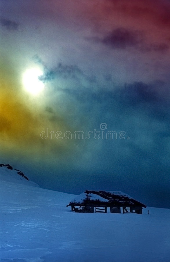 Spectacular Sky Colors in Mountains stock image