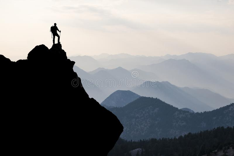 Discovery, climbing and success in incredible and mystical places royalty free stock photo