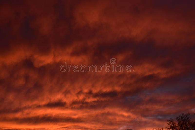 Spectacular sunset over Burnley Lancashire in Northern England. Sky seemingly on fire over Burnley in November 2015. The display lasted about 20 minutes and was stock images