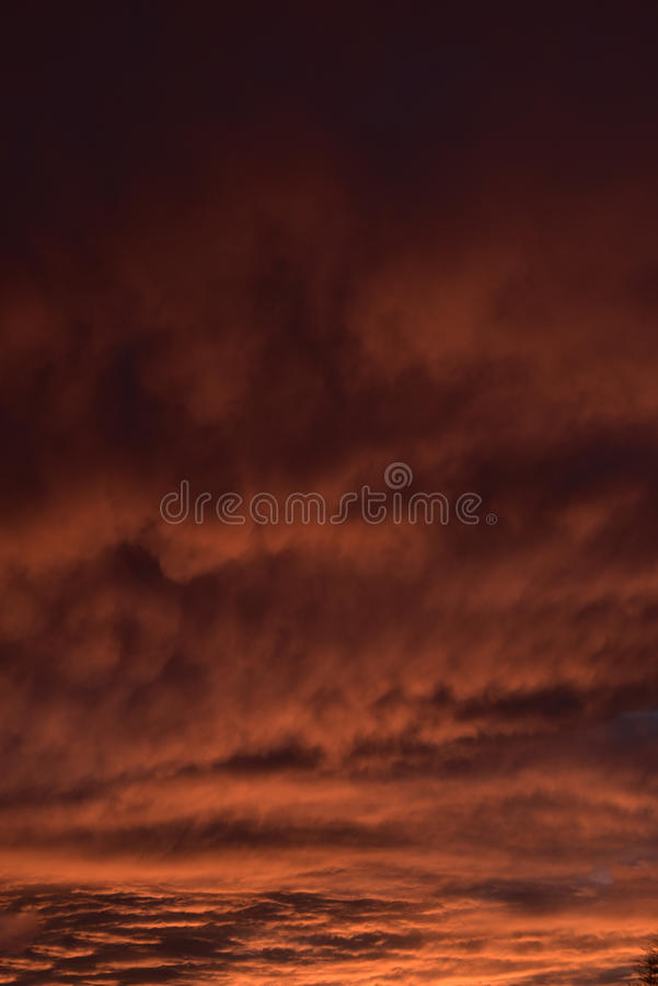 Spectacular sunset over Burnley Lancashire in Northern England. Sky seemingly on fire over Burnley in November 2015. The display lasted about 20 minutes and was stock photography