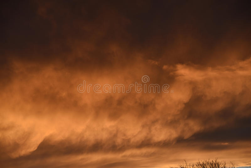 Spectacular sunset over Burnley Lancashire in Northern England. Sky seemingly on fire over Burnley in November 2015. The display lasted about 20 minutes and was royalty free stock photo