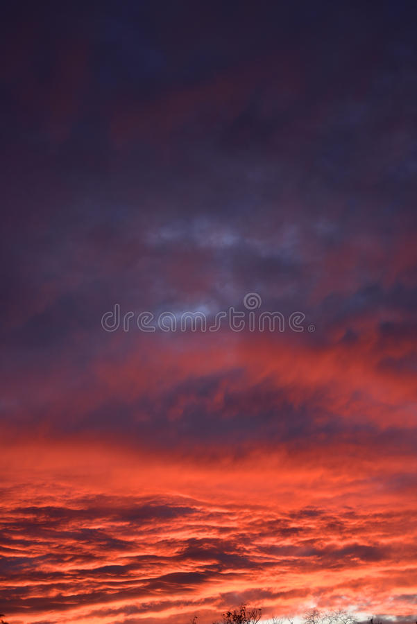 Spectacular sunset over Burnley Lancashire in Northern England. Sky seemingly on fire over Burnley in November 2015. The display lasted about 20 minutes and was royalty free stock photography