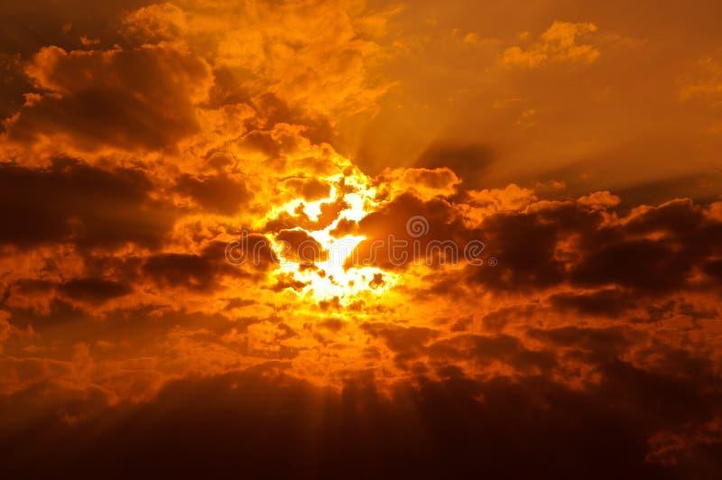 Spectacular sunset/sunrise stock images