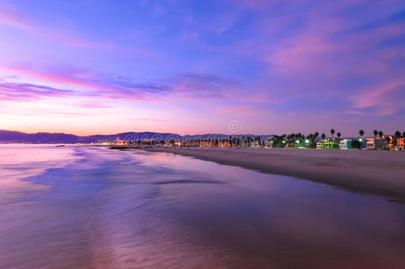 Spectacular Sunset at Venice Beach stock photo