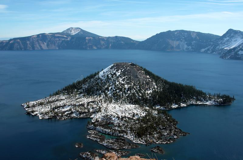 Crater lake - Oregon - United States of America. A spectacular view of the Crater Lake - Oregon - United States of America royalty free stock photo