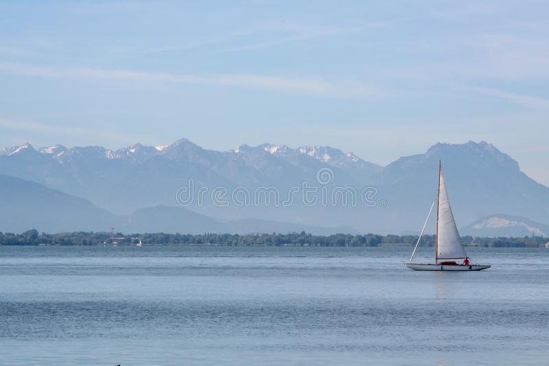 Spectacular view over the lake constance germ stock images