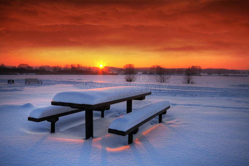 Download Spectaculat winter sunset stock image. Image of countryside - 17204747