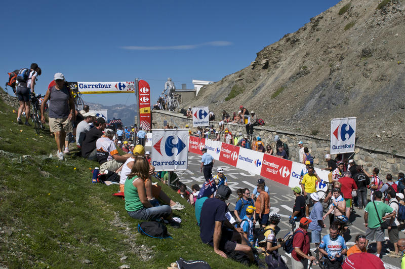 Spectateurs au Tour de France photo libre de droits