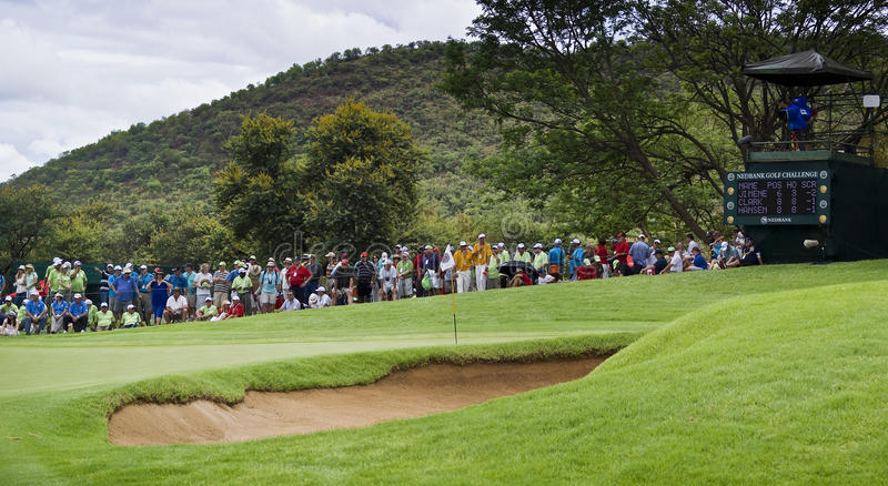Download Spectators On The 8th Green Editorial Stock Photo - Image of city, course: 17715968