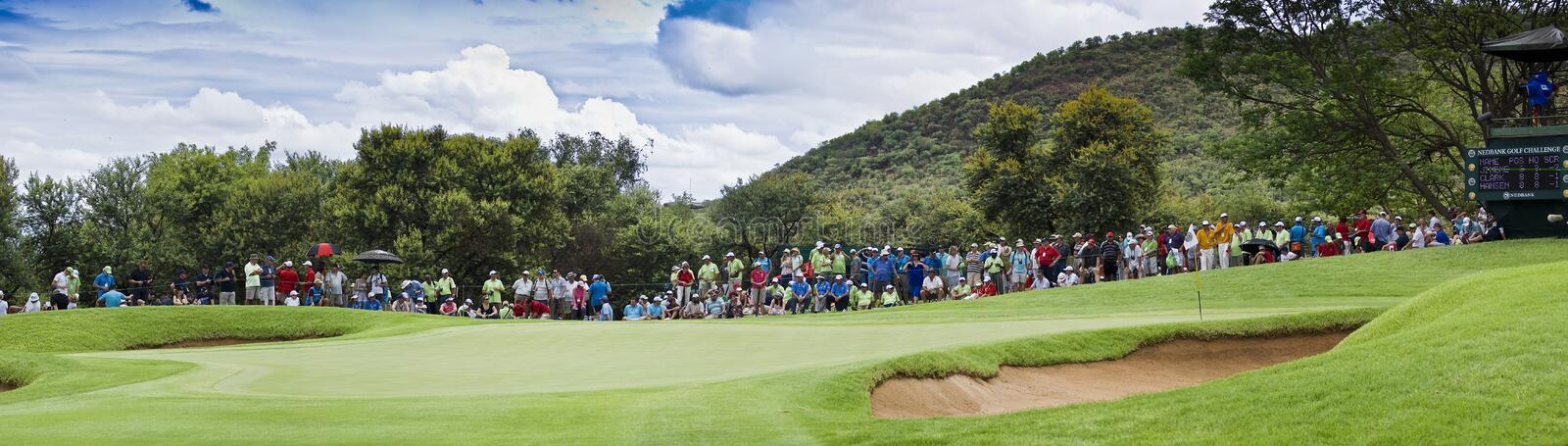 Download Spectators On The 8th Green - Panoramic Editorial Photography - Image: 17384962