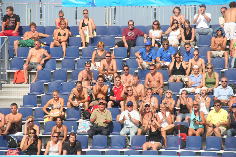 Download Spectators Applauding editorial stock photo. Image of volleyball - 6270798