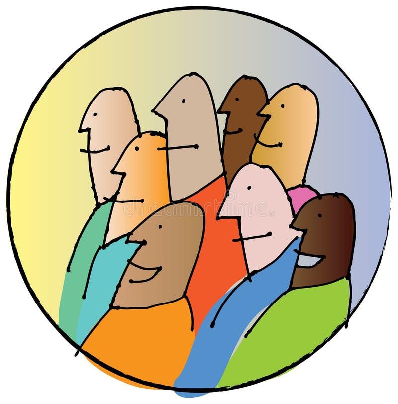 Download Spectators crowd stock illustration. Illustration of group - 3687255