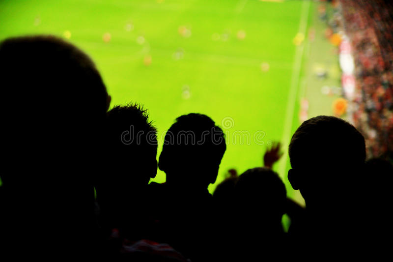 Spectators fans football stock photography