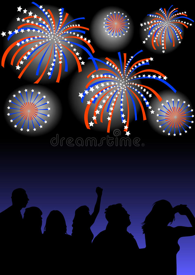 Download Spectators Look At The Fireworks Stock Vector - Image: 9747021