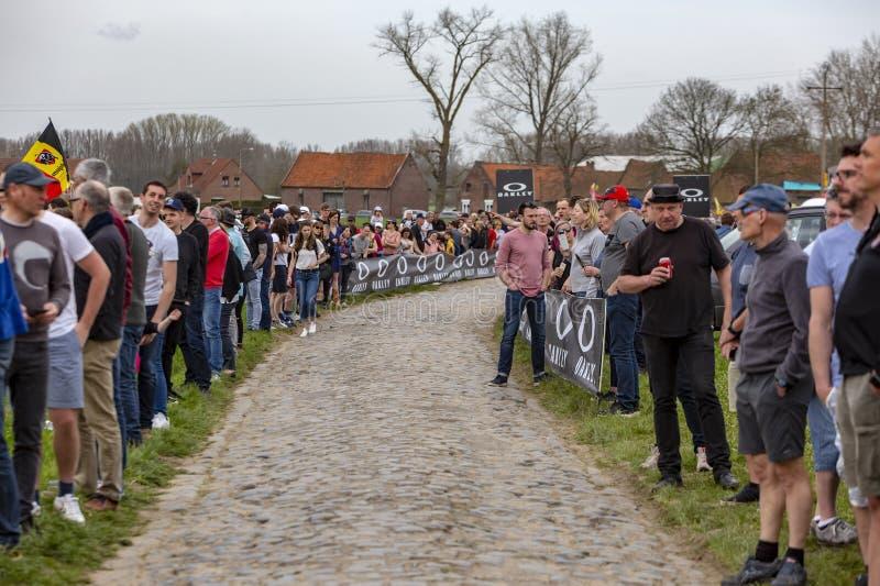 Spectators - Paris-Roubaix 2018 stock photography