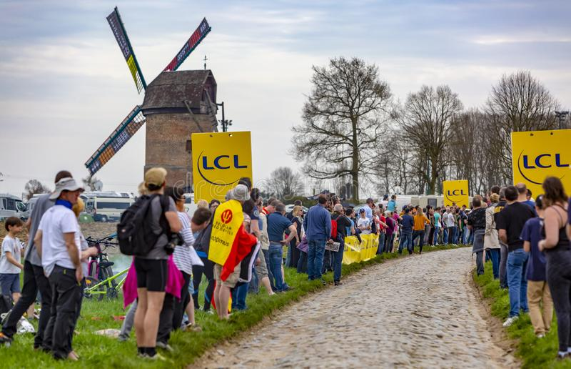 Spectators - Paris-Roubaix 2018 stock photo