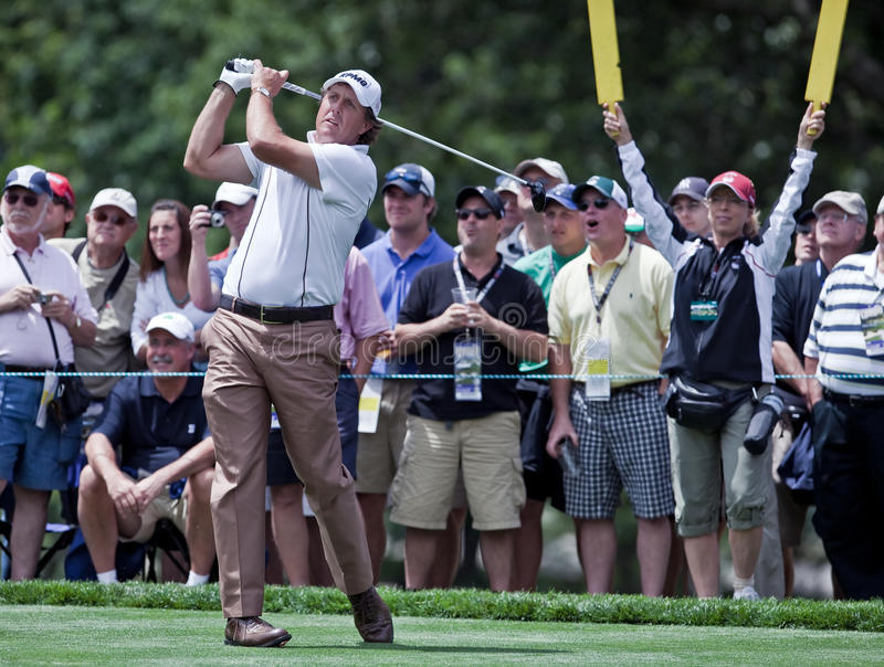 Download Spectators Watch Phil Mickelson Editorial Photography - Image: 12767537