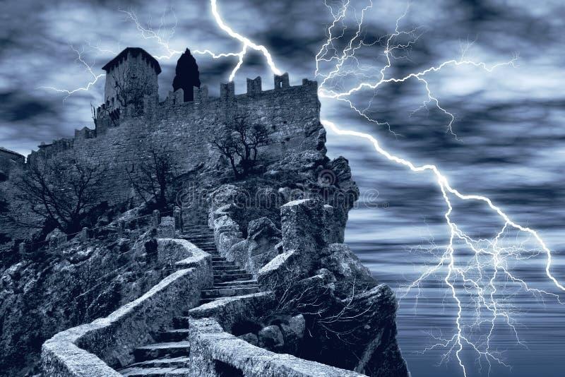 Spectral castle stock illustration