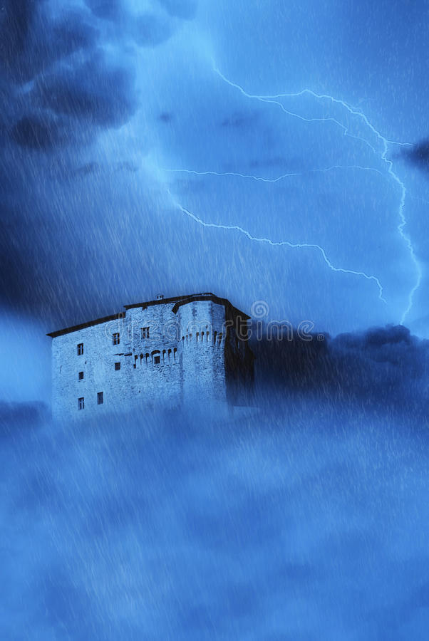 Download Spectral castle stock image. Image of summer, lightning - 15255861