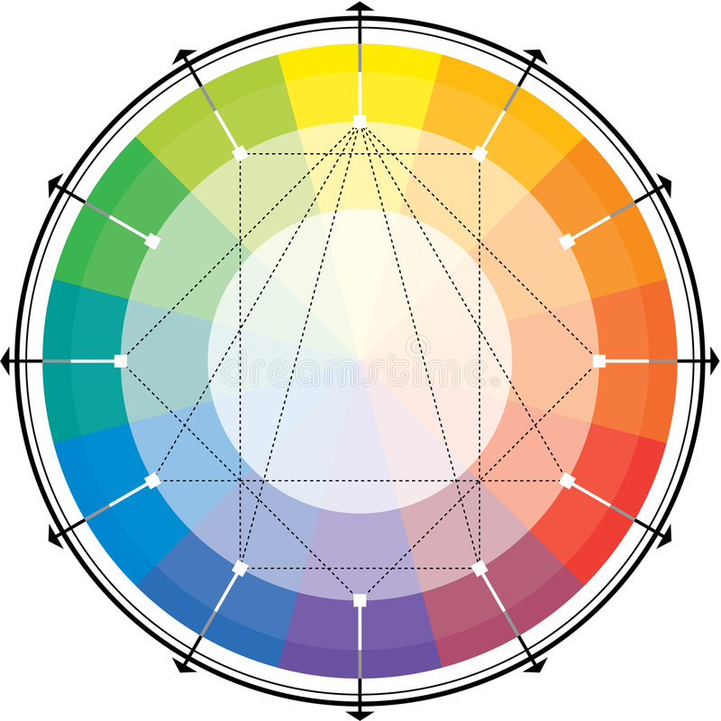 Download Spectral harmonic scheme stock vector. Image of lilac - 6876921