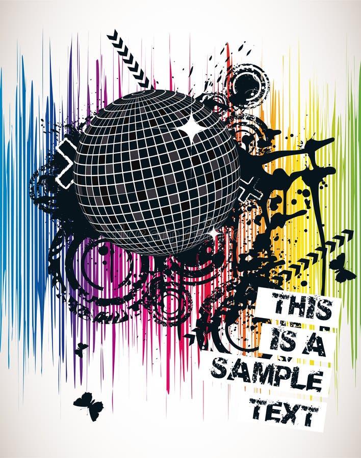 Download Spectral Party Poster stock illustration. Illustration of rock - 8351924