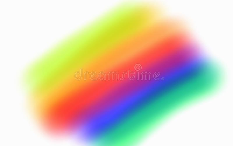 Abstract spectral rainbow wave in a white background stock illustration