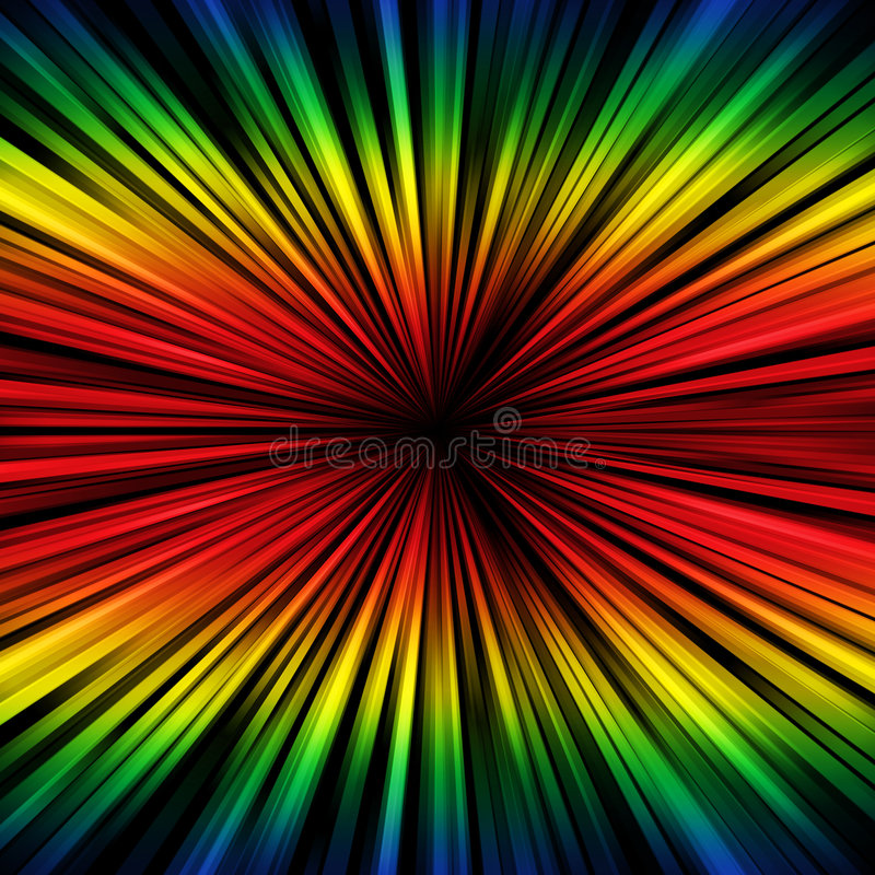 Download Spectral rays stock illustration. Illustration of dark - 6948404