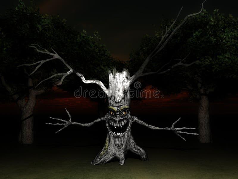 Spectre 8 d'arbre illustration de vecteur