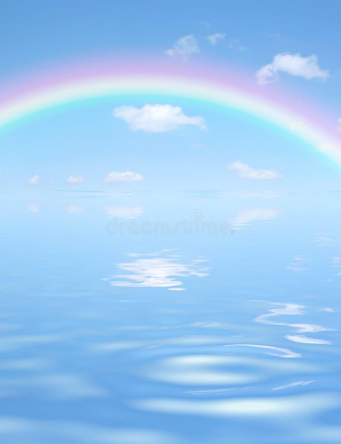 Spectre au-dessus de l'eau illustration de vecteur