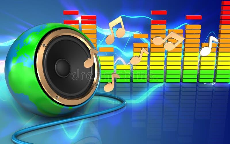 spectre audio d'audio du spectre 3d illustration libre de droits