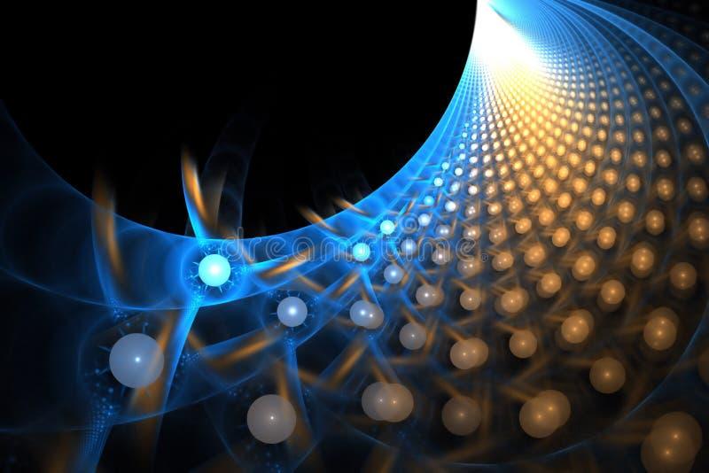 spectre de la fractale 3D illustration de vecteur