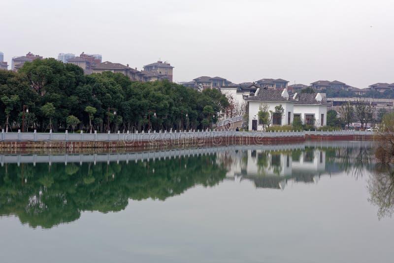 Spectre de lac-Qingyun de Qinyun images stock