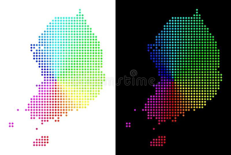 Spectre Dot South Korea Map illustration libre de droits