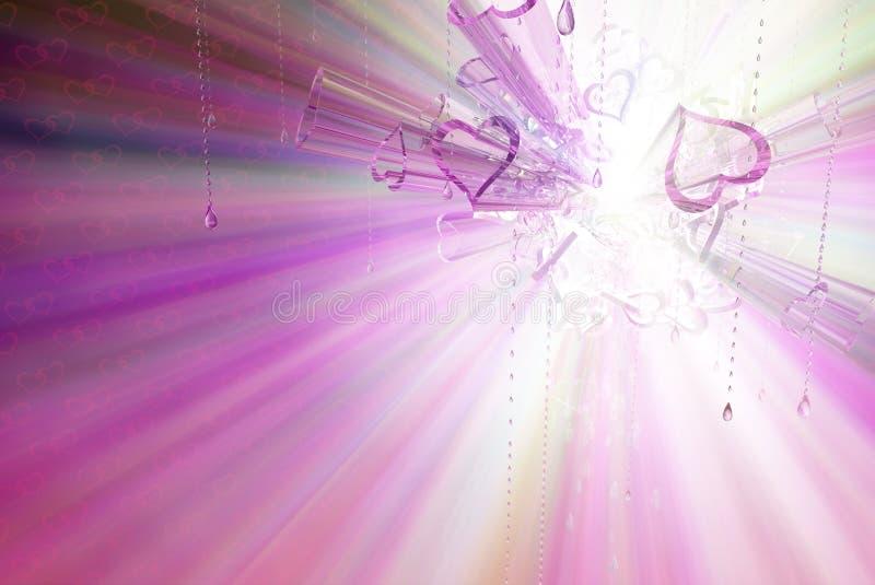 Spectre en verre de coeur illustration stock