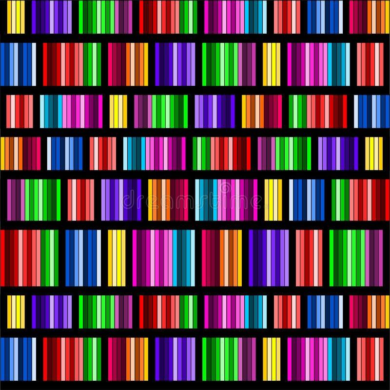 Spectres en verre souillé illustration stock