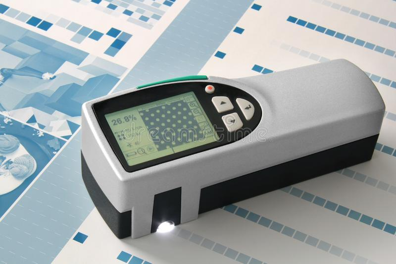 Spectrometermätning på CTP royaltyfri fotografi