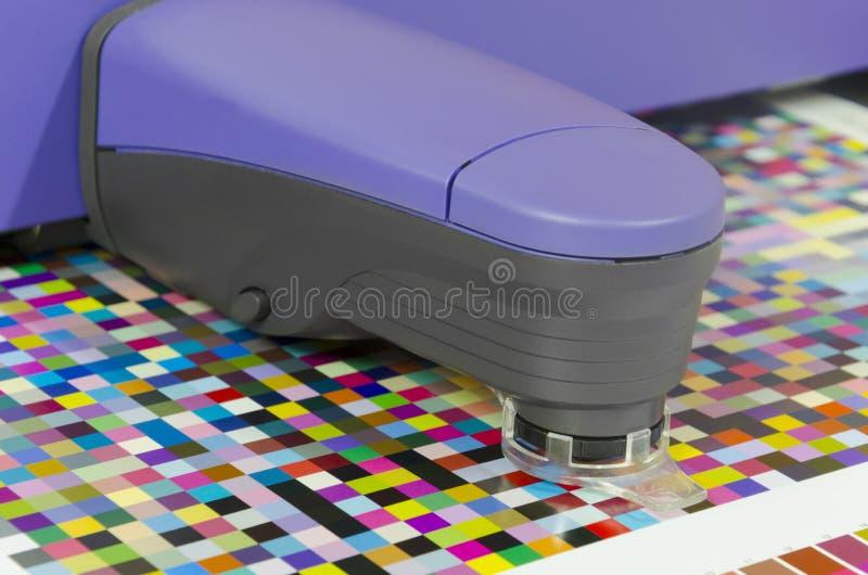 Spectrophotometer koloru zarządzania instrument dla pomiaru i koloru profiluje tworzenie obraz royalty free