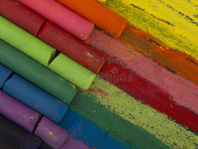 Spectrum Of Artistic Crayons Royalty Free Stock Images