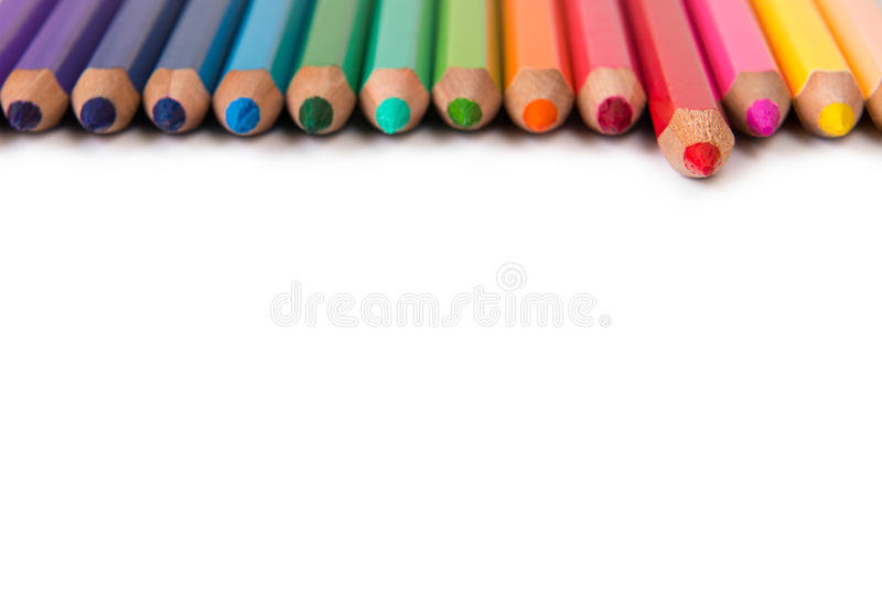 Download Color pencils stock image. Image of draw, back, colors - 30166391
