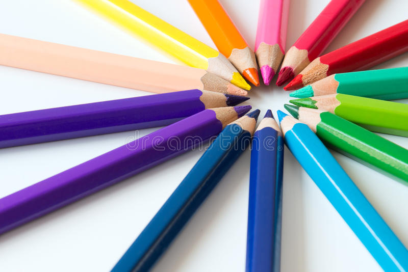 Download Color pencils stock image. Image of object, educate, spectral - 30166389