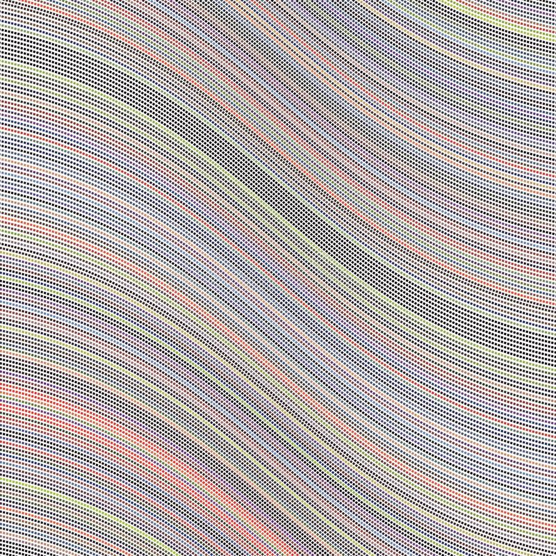Spectrum Colorful Wave Stripe Square Dots Wave Background Pattern Texture royalty free illustration