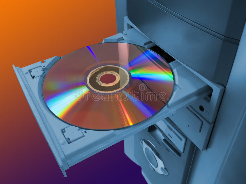 Spectrum on disk. Spectrum (rainbow) on disk in tray royalty free stock images