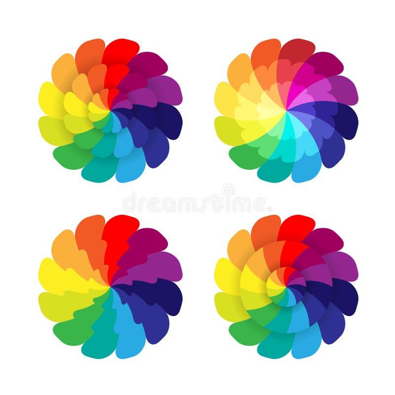 Spectrum flowers vector illustration