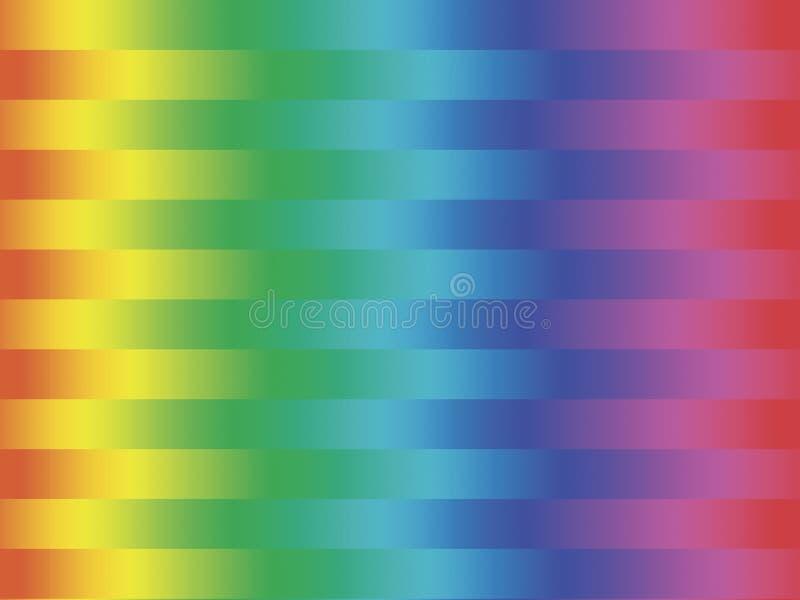 Spectrum gestripte achtergrond stock illustratie