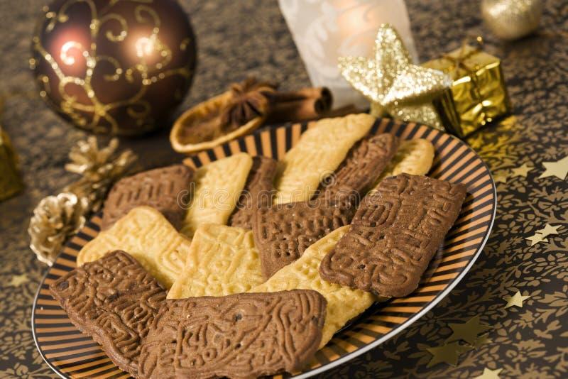 Speculaas Plätzchen für Weihnachten lizenzfreie stockfotos