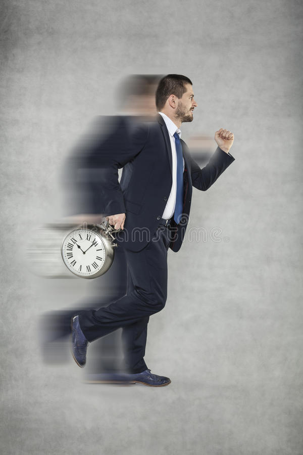 Sped, rush and stress this is life. Sped, time will never stop stock photography